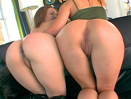 Lesbians Fucked In A Threesome!